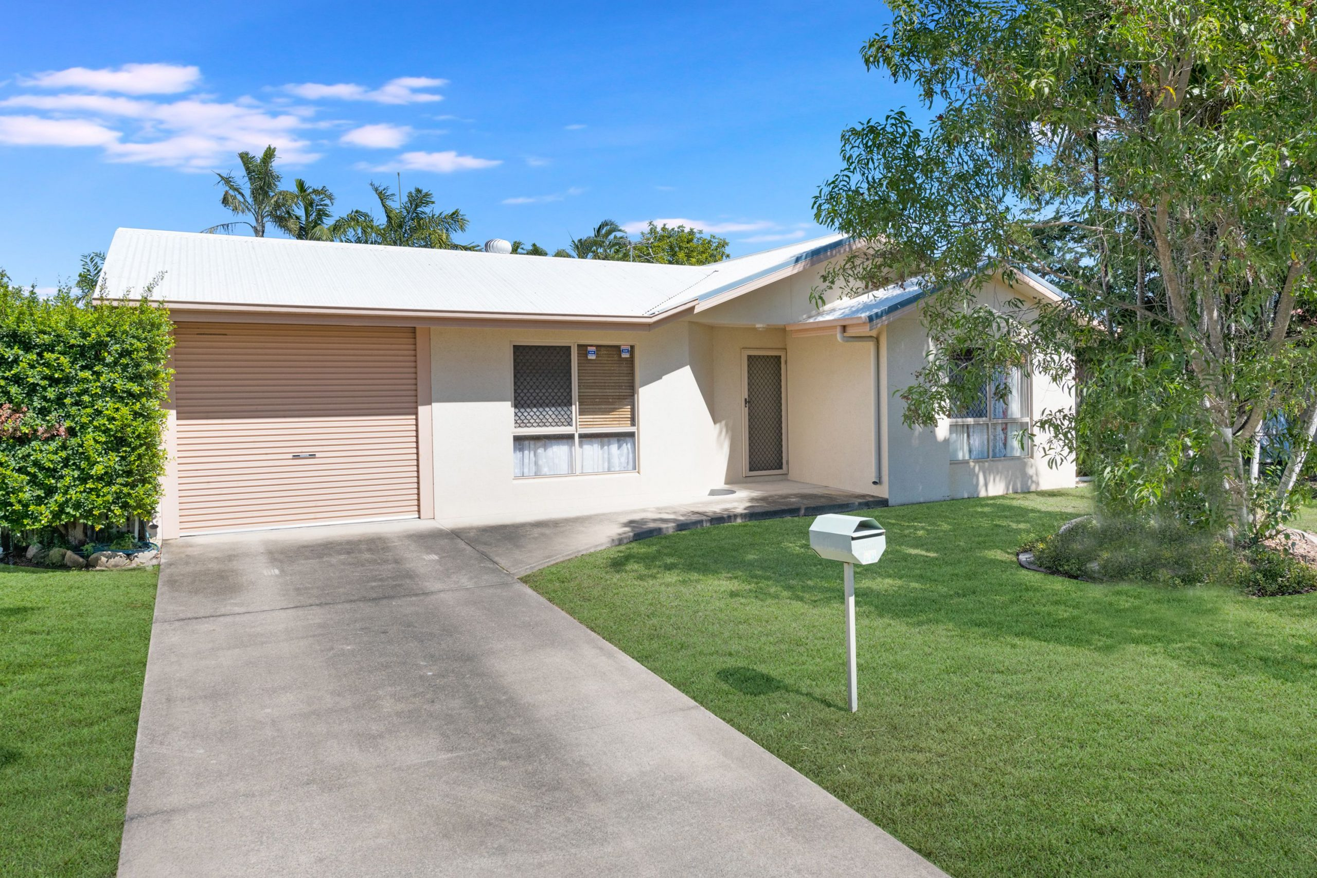 What a cutie….so neat & tidy is this 4 bedroom home with a huge back patio
